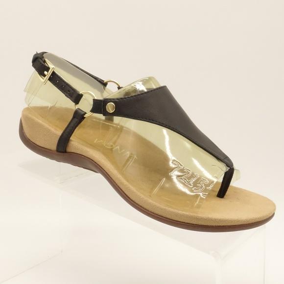 59e3a19137 New VIONIC Kirra Backstrap Sandal Black Thong Shoe.  M 5c744b21e944ba03e5f0ba48